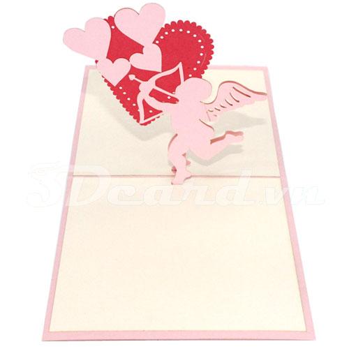 Arrows Love-3d card-handmade card-pop up card-birthday card-greeting card-love card-valentine card