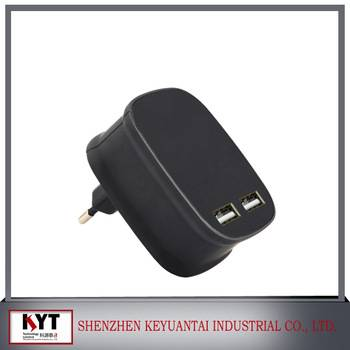 Dual USB wall charger 5V 3.4A with C-tick certificate