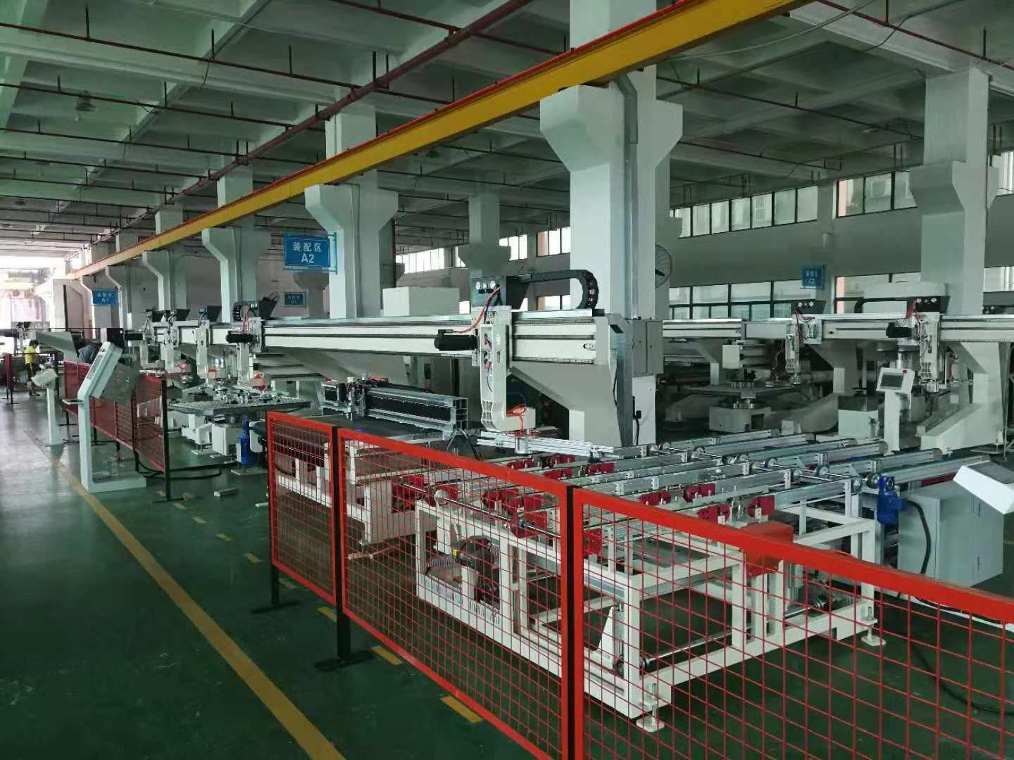 High speed automotive glass production line