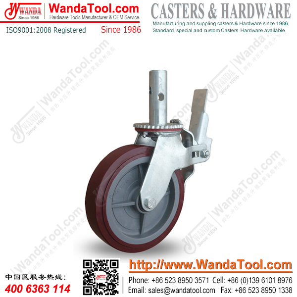 8 inch Standard Scaffold Casters wtih Polyurethane wheel