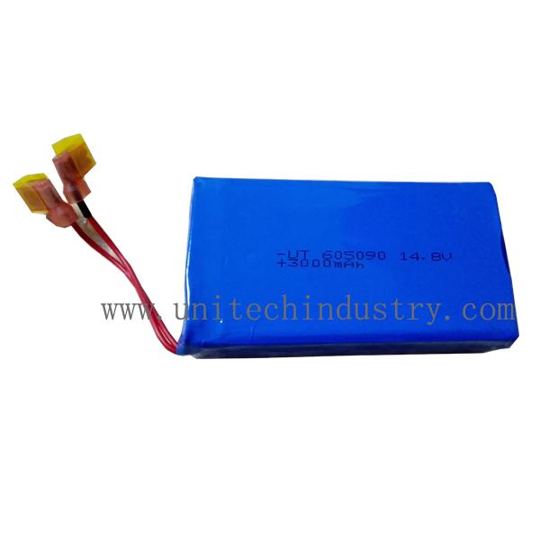 Custom battery pack 605090 14.8V 3000mAh 4S1P lithium polymer battery