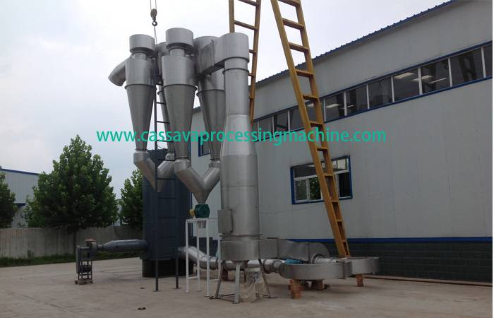 Cassava starch air steam crash dryer