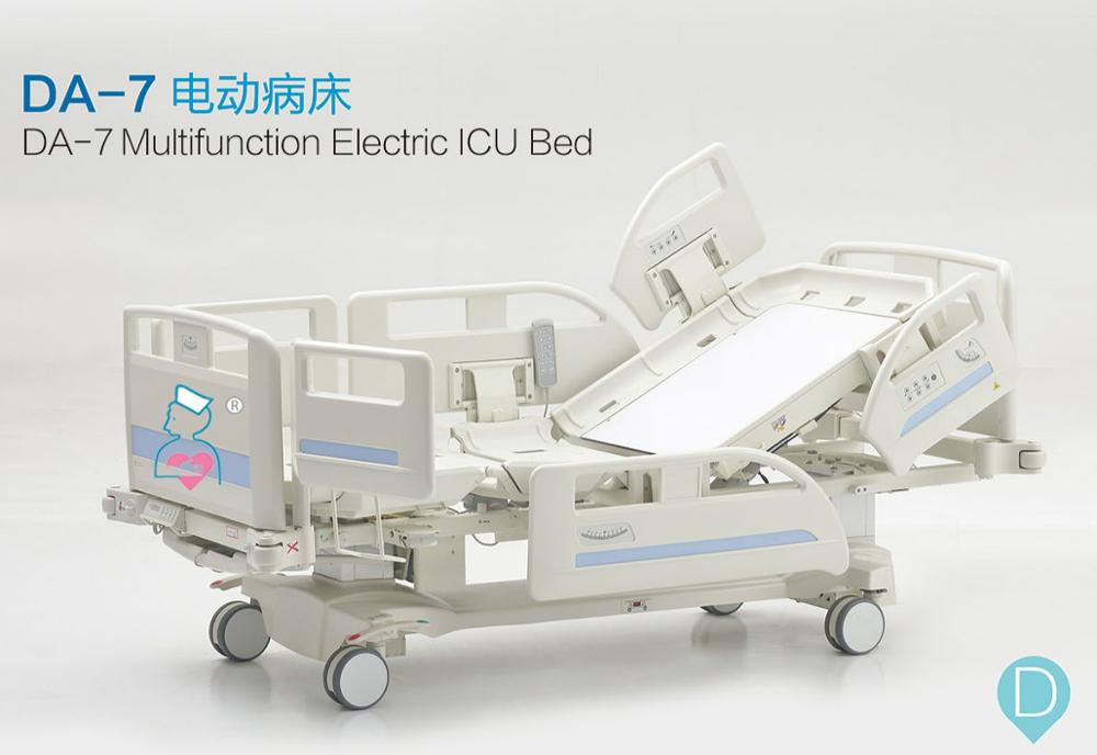 Seven-function Electric ICU Hospital Bed with weighing system, Multifunction Electric Intensive Care