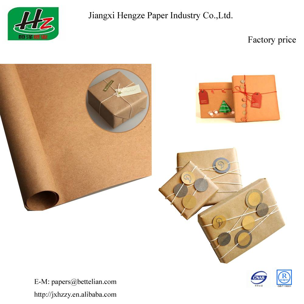 Unbleached uncoated 53gsm packaging kraft paper