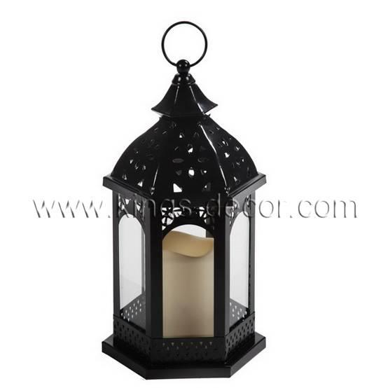 Home & garden decoration black led candle lantern