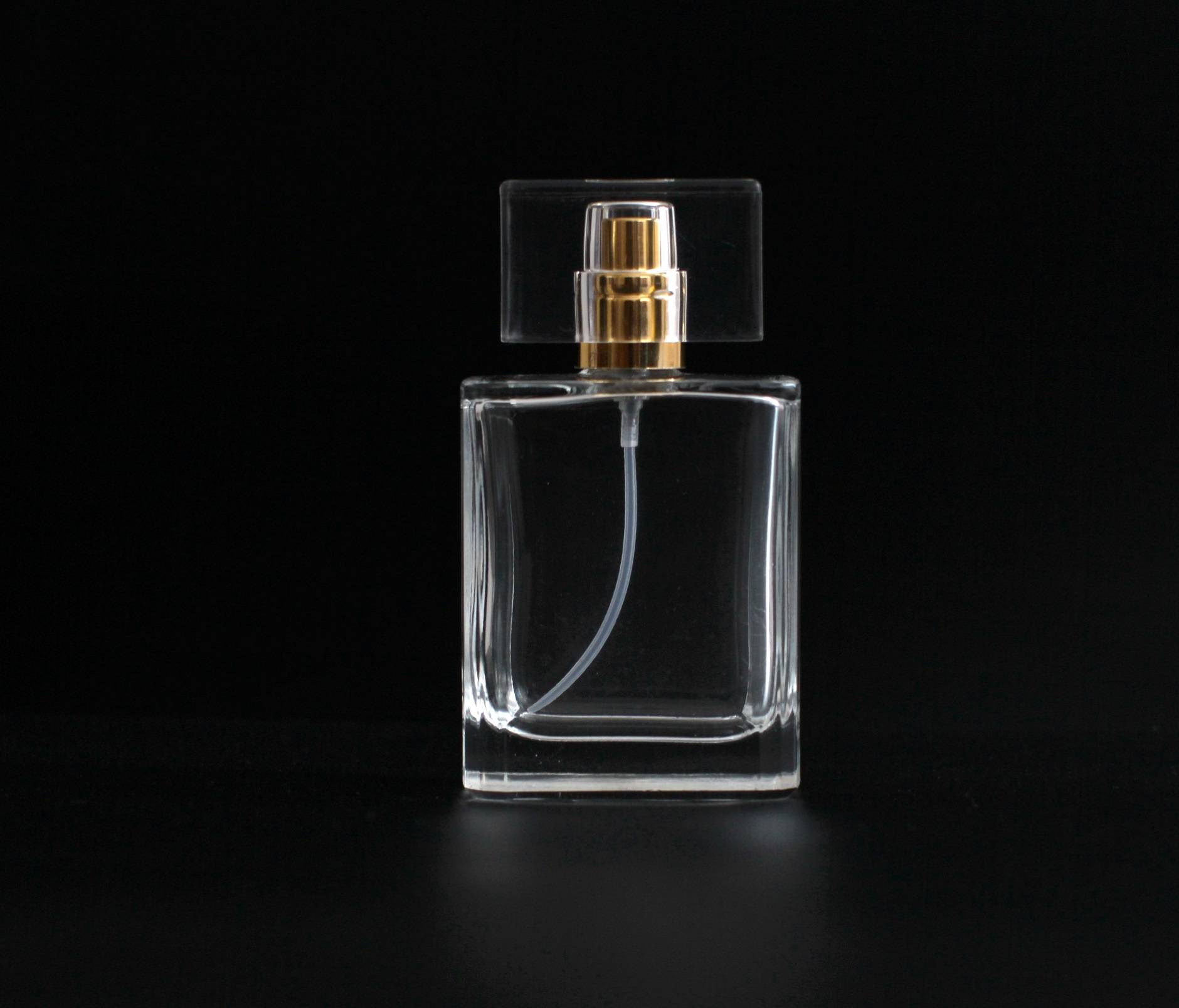 50ml crystal glass perfume bottle with pump cap