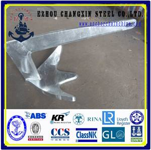 Galvanized bruce anchor