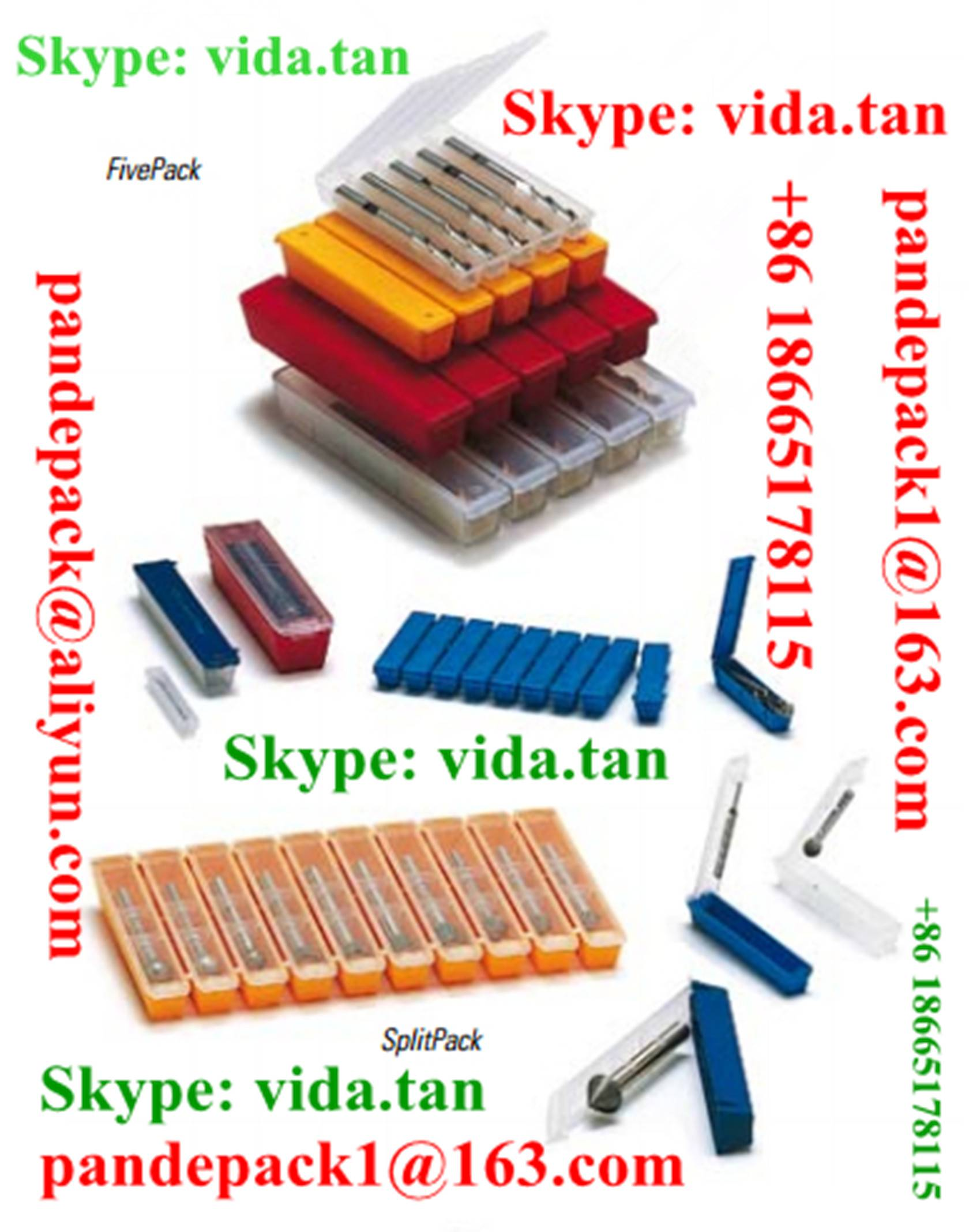 Sell SplitPack and FivePack for Screw Tap/Plastic Box/Pack/Package/Cutting Tool Box/Package/Pack