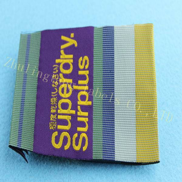 colorful woven label&brand name label for clothing