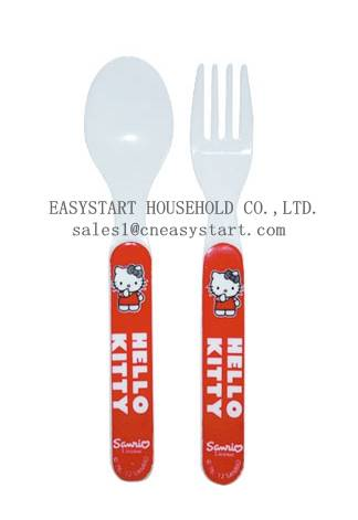 Fork and Spoon Set, Plastic Fork and Spoon
