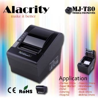 High Speed with Auto Cutter 80mm Pos Printer