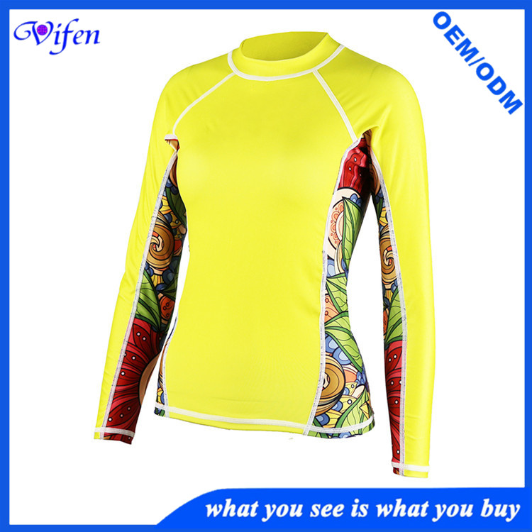 yellow lycra suit women ultrathin surfing suit swim wear snorkeling diving suit high quality