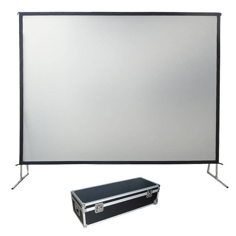 fast fold projection screen for office with front and rear fabric