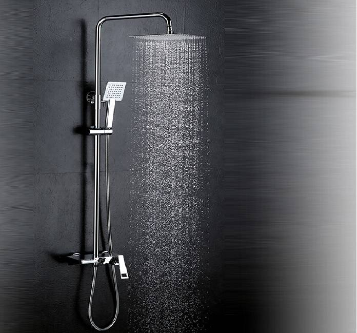 Big Rain Ceiling Mounted Eco Spa Thermostatic Shower Set Bathroom Faucet