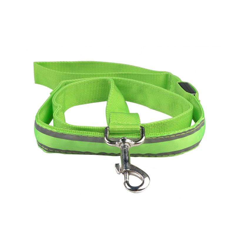 LED dog leash with reflective lines pet leash