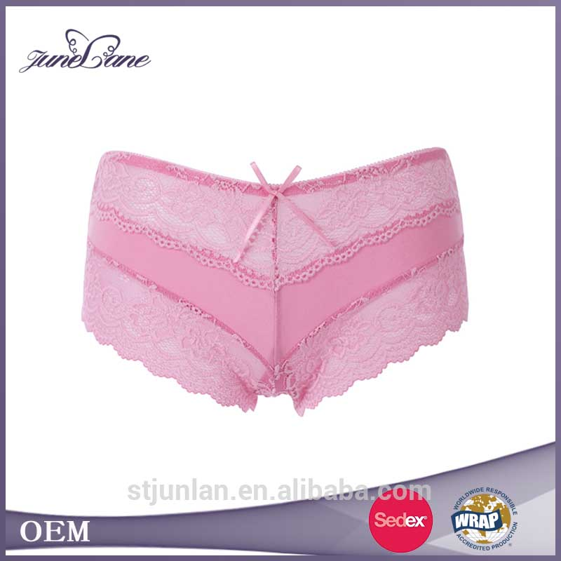 Hot images middle-waist underwear sexy women panty lingerie with lace decoration