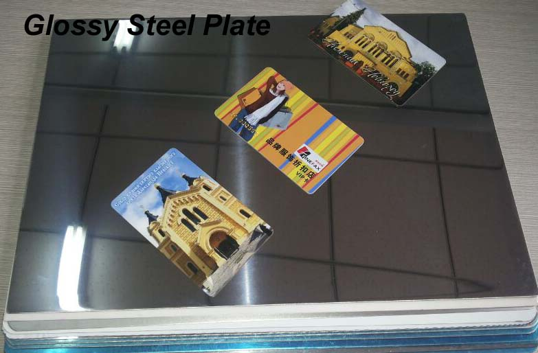 Glossy Finish Card Lamination Steel Plate MSP-G