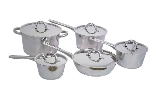 Newest Model! Stainless steel 10pcs cookware set