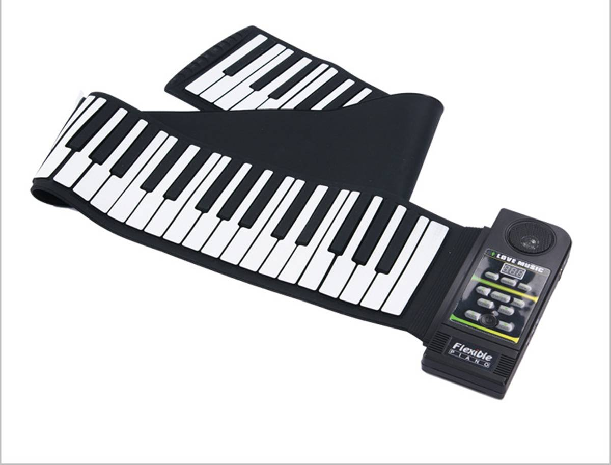 88 Keys Silicon Hand roll Up Piano
