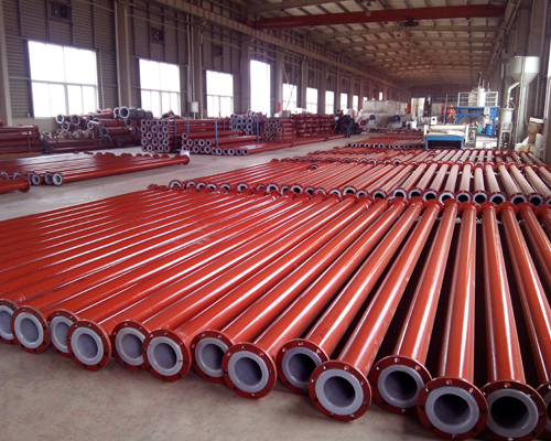anti-corrosion pipe with plastic lined pipe for waste water treatment