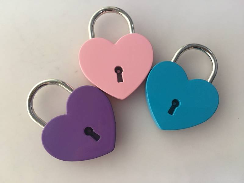 Manufacture Metal Heart Shape Padlock For sale