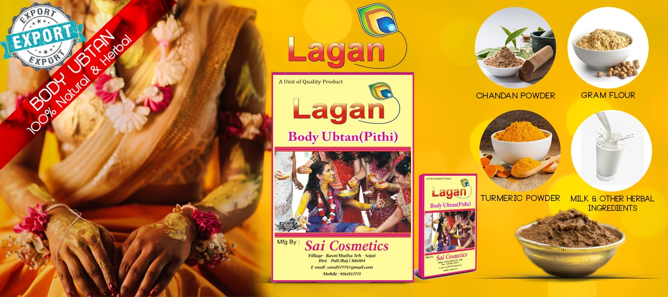 Lagan ubtan for body whitening 500g Pkd - 100% Herbal body ubtan powder