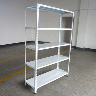 Light duty steel storage garment shelving support