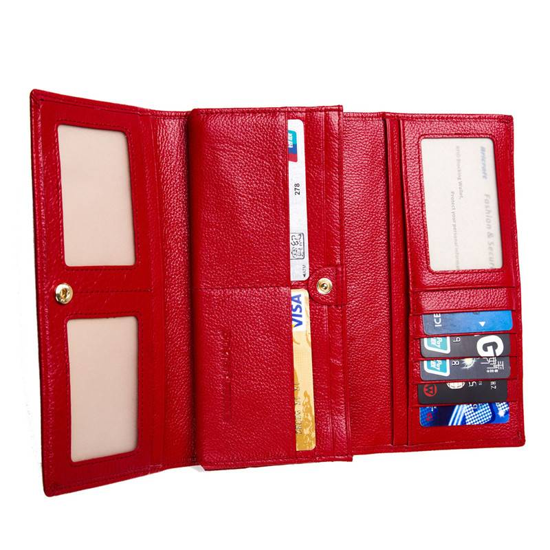 Stop Electronic Pick Pocketing Womens RFID Credit Card Protector Wallet with Flipout ID