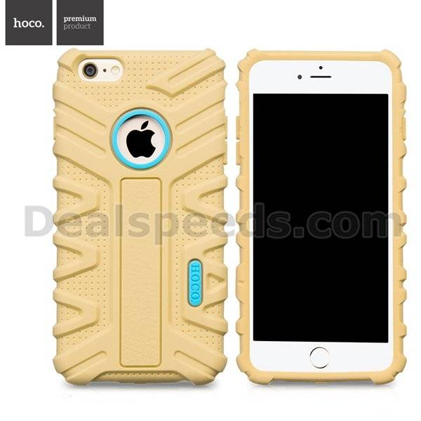 HOCO. Premium Product Transformer Design for iPhone 6 Plus Silicone Back Shell - Yellow