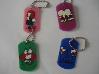 Silicone Tag, Dog Tag Necklace