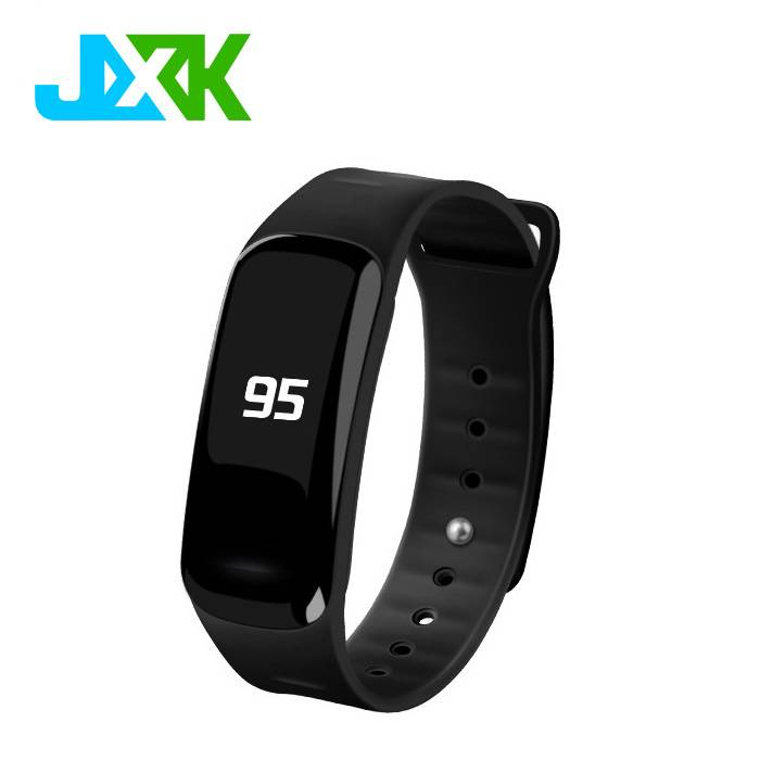 JXK Latest Blood pressure bluetooth heart rate monitor wrist watch smart bracelet for Android iOS sy