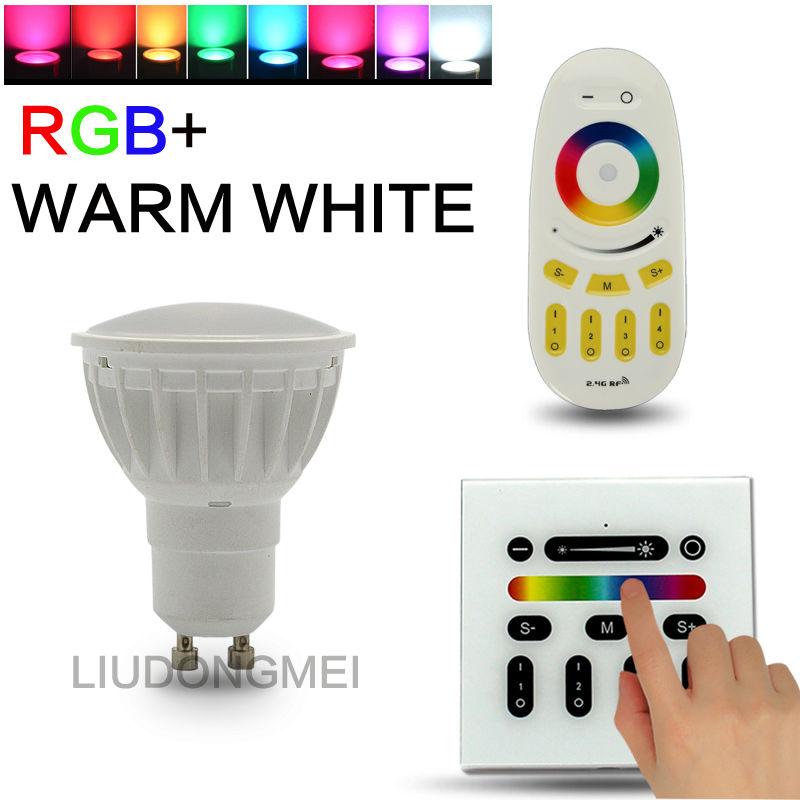 4W 2.4G RF remote control RGBW gu10 wifi controlled mi.light led light spotlight bulb
