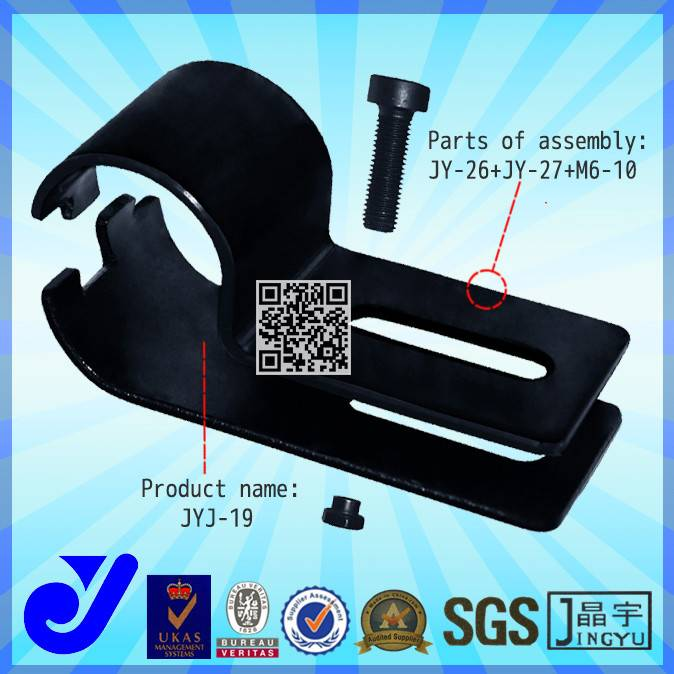28 diameter coated Pipe Joint clamp and fittings for rack had shelves JYJ-19