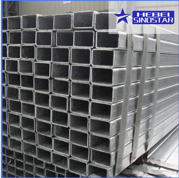 Hot Dipped Galvanized  Rectangular Steel Pipe