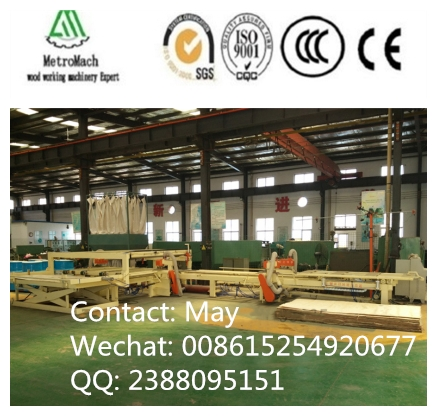 automatic adjustable four sides wood cutting saw