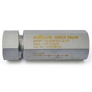 HIFLUX - High Pressure Ball Type Check Valve