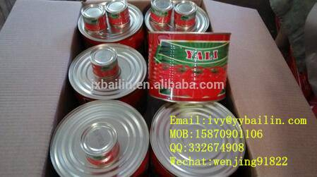 Hard open/easy open canned tomato paste