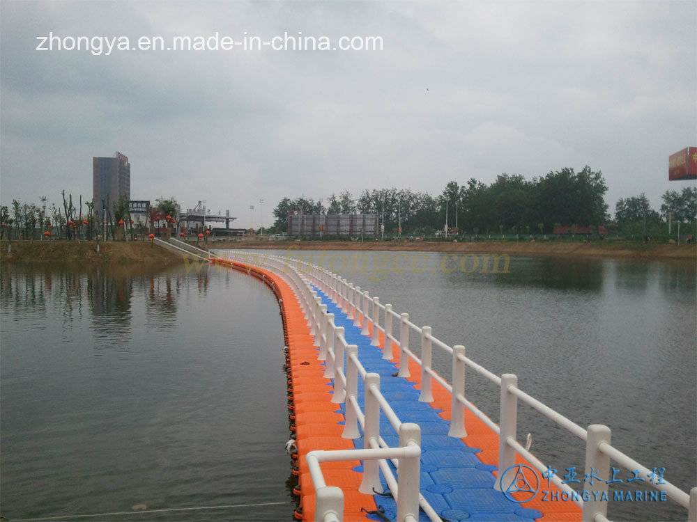 Floating Cube Bridge with Handrail