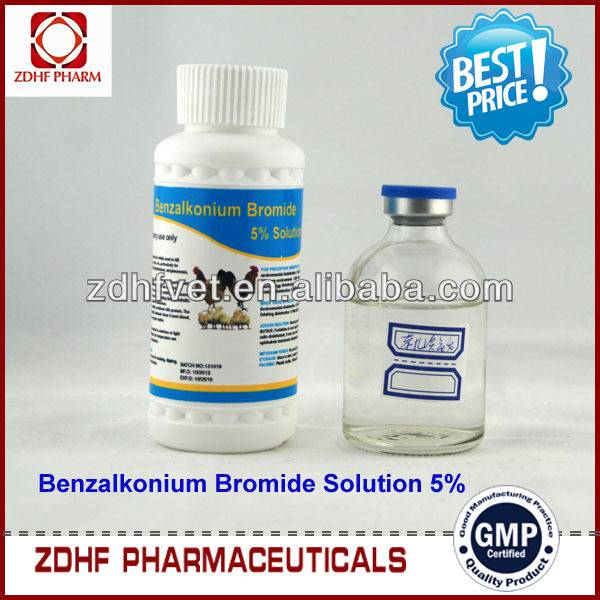 5% Benzalkonium Bromide Solution poultry Disinfectant for chicken house