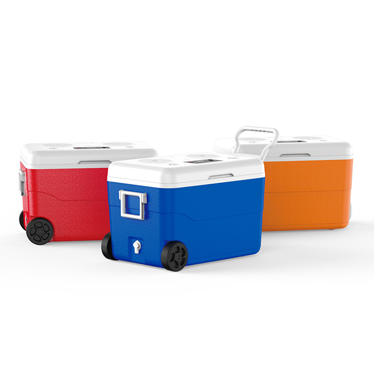 55 Liter Party Cooler Box Outdoor Pool Ice Chest Speaker USB Charger Power Station Camping Tool