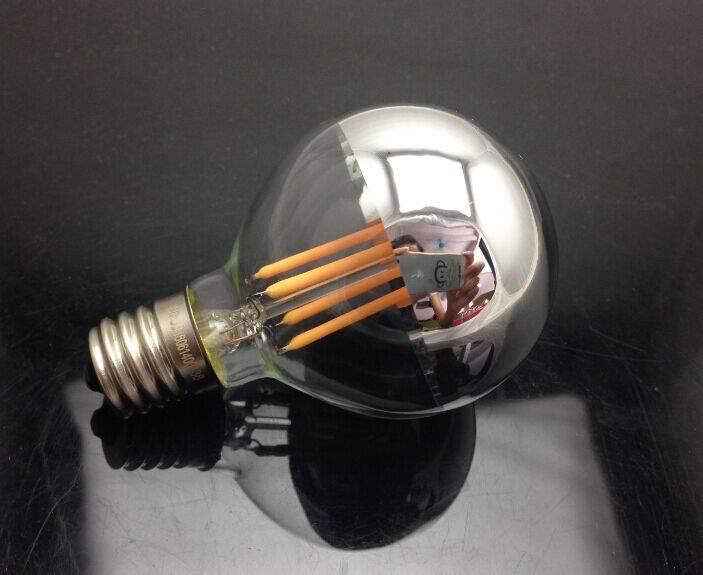 E14 E17 G45 silver filament led bulb 5W