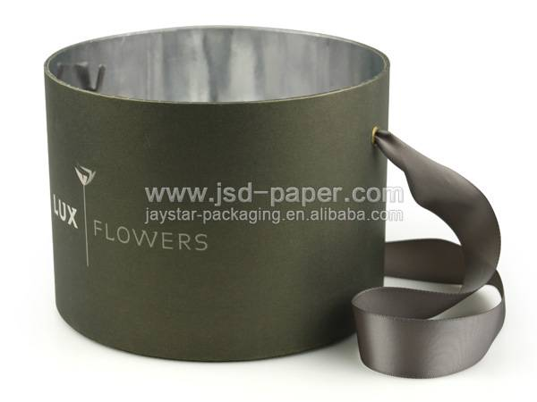 GB-L009 Embossing custom logo flower box wholesale