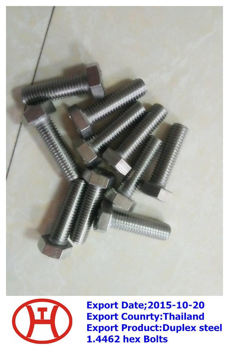 Duplex steel 1.4462 hex Bolts