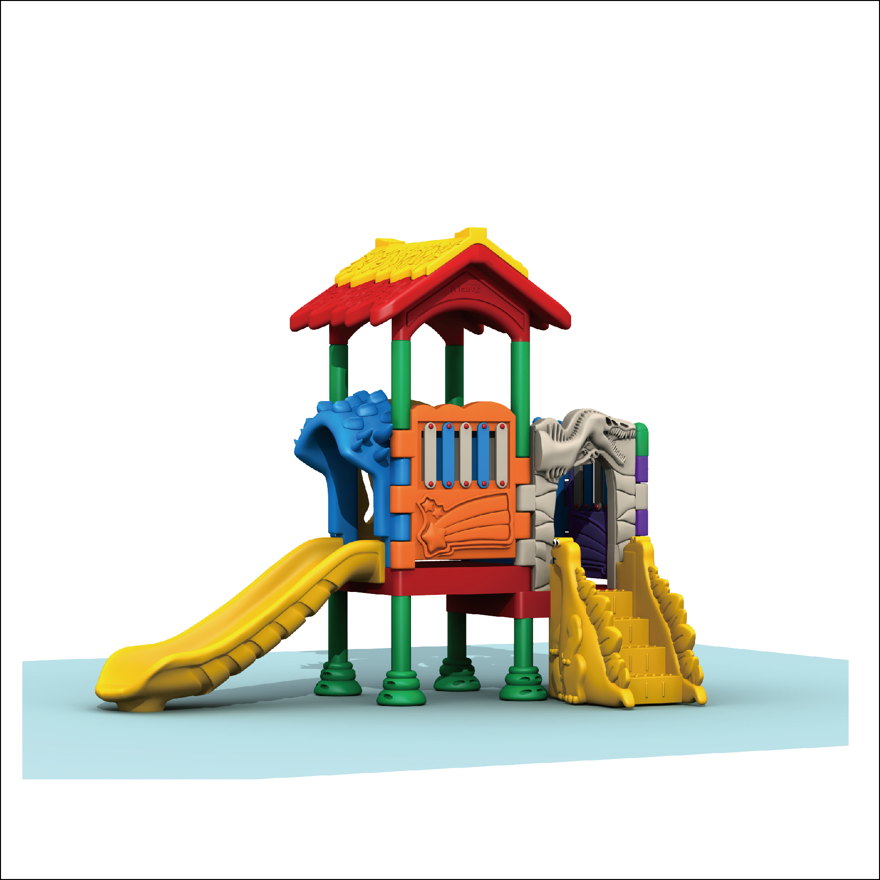 HLB-TQQS028 Children Plastic Playhouse and Slide