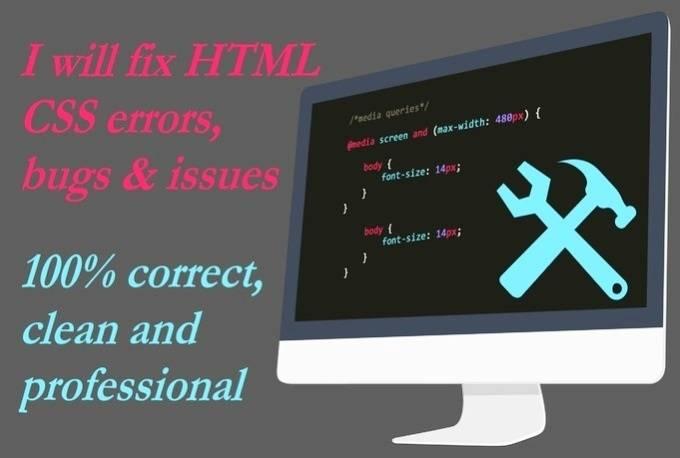 Quick Fix HTML/CSS Corrections - Website Doctors