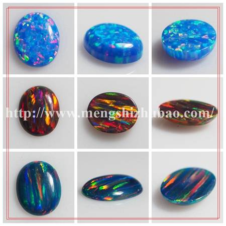 Hot sale oval cabochon colors synthetic lab opal gemstone