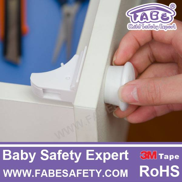 D522 Fabe baby products magnetic child baby safety lock with key