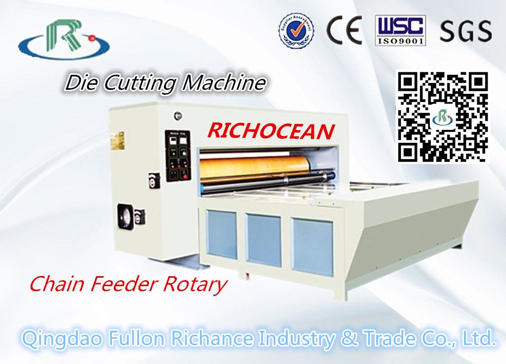 Semi-Automatic Chain Feeder Rotary Die Cutting Carton Box Making Machin