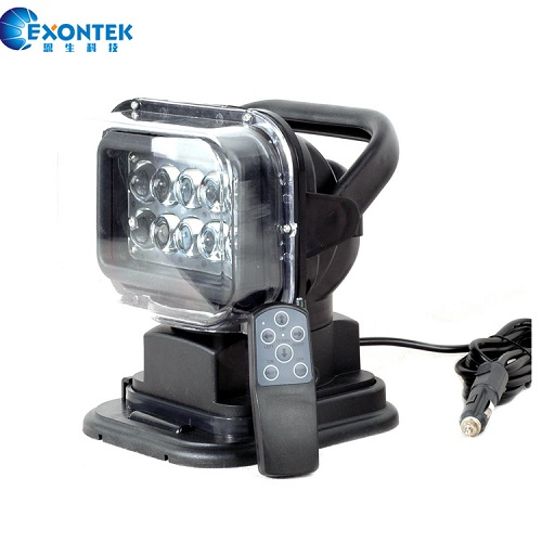 50W 7inch Rotating LED Search Light with Remote Control for 4WD Offroad Truck Boat Mining Fishing