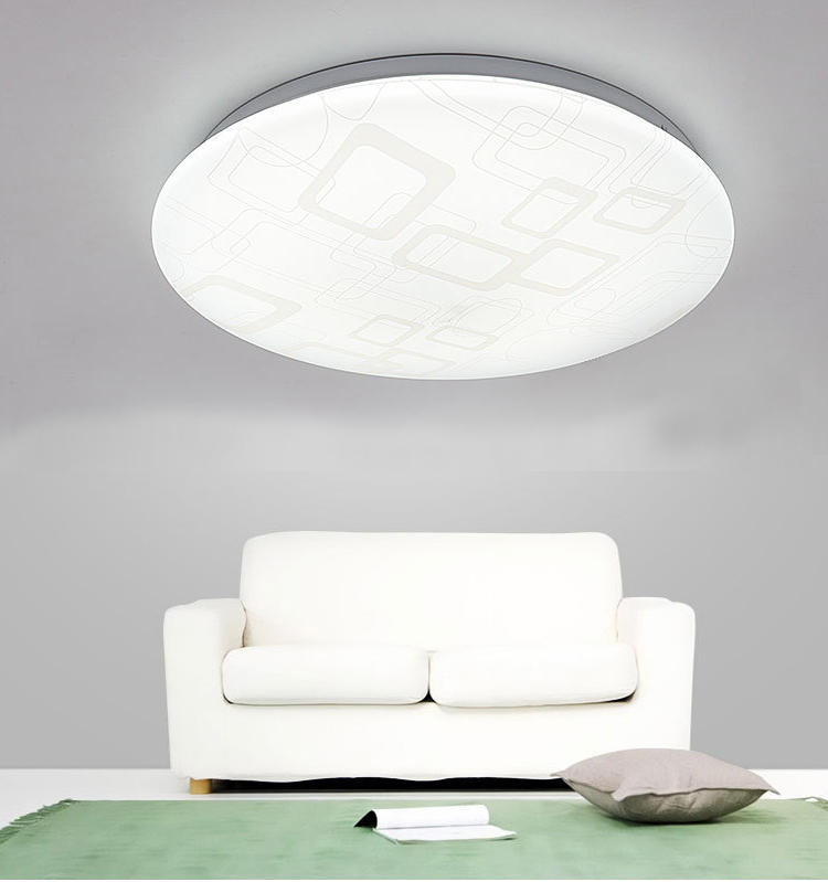 Modern and simple acrylic bebroom LED ceiling light 24w 30w Surfaced mounted LED flush mount light